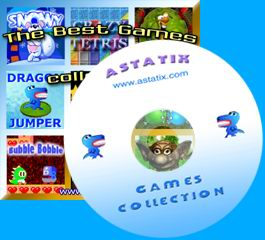 CD-ROM with games. Get addictive games on CD.